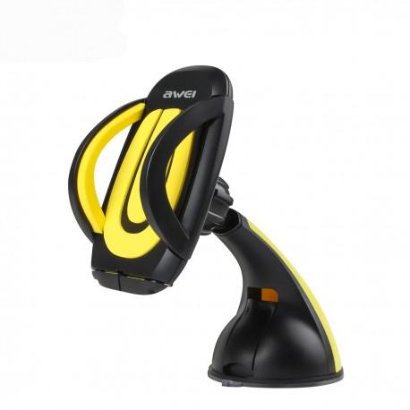 Soporte de coche con ventosa Awei X7 Amarillo